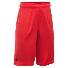 Under Armour Kids Clothes Kids Red Under Armour Tech Block Shorts Rugbystore