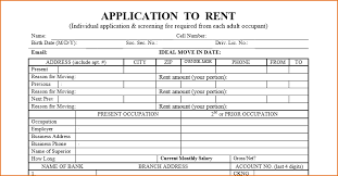 7 apartment rental application form printable receipt