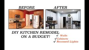Kitchen Cabinet Recessed Lighting Diy Kitchen Remodel Updating Our Kitchen On A Budget Walls