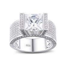 engagement rings sterling silver princess cut white sapphire 925 sterling silver engagement ring