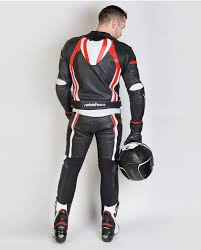 motorcycle pants piston ii jacket black fluo red white rebelhorn eu