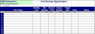 Saving Spreadsheet Cost Savings Initiative Tools Itlever