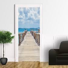 adesivi porta pontile in legno adesivo per porta santorografica shop