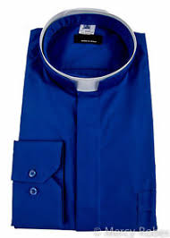 clergy cords mens collar clergy shirt royal blue tonsure collar