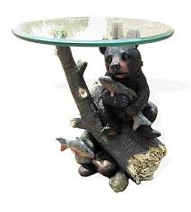 black bear coffee table a cabinplace com exclusive this lovable bear cub can be found