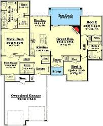 4 bedroom 2 bath floor plans attractive 3 bedroom 2 bath brick house plan 11773hz
