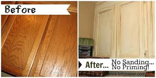 refinish cabinets without sanding how to paint oak kitchen cabinets without sanding