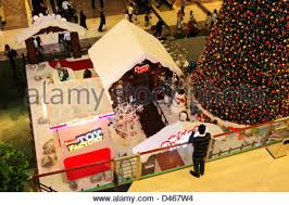 christmas decoration in a shopping mall many golden christmas