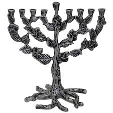 tree of menorah gifts hanukah pewter tree of hanukkah menorah