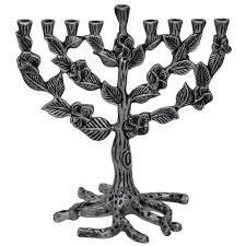 pewter menorah gifts hanukah pewter tree of hanukkah menorah