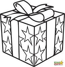 coloring pages christmas present coloring