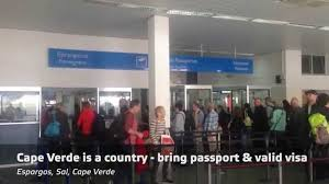 airport sal cape verde islands imigration and visa process at