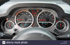 jeep wrangler speedometer instrument cluster 2007 jeep wrangler rubicon stock photo royalty