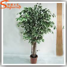 make artificial green banyan ficus trees bonsai plant sale