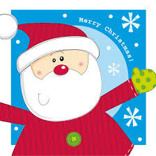 erskine charity christmas cards santa and rudolph twin pack