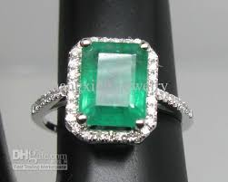 emerald rings uk 2018 solid 14k white gold emerald diamond wedding
