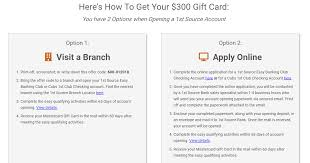 buy e gift cards with checking account in mi 1st source bank 300 mastercard checking bonus doctor of