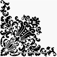 square scroll saw patterns simple corner design ornament vector