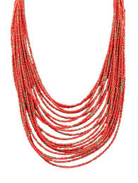 beaded red necklace images Necklaces red bohemian beaded layered necklace gamiss jpg