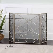 living room uniflame corporation single panel wrought iron