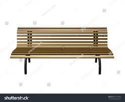 wooden bench black steel leg on stock illustration 322159595