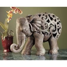 design toscano ng32745 anjan the elephant jali sculpture wild