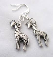 giraffe earrings giraffe earrings animal earrings pewter earrings giraffe jewelry