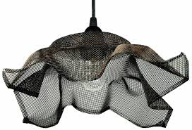 Recycled Light Fixtures Recycled Mesh Pendant Light Fixture With Copper Highlights Omero