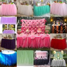 wedding birthday party table tulle tutu skirt 2017 custom made