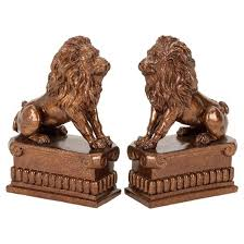 lion book ends animal instinct lion bookends 8 2ct may target
