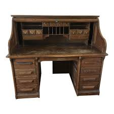 jefferson roll top desk vintage jefferson rolltop desk chairish