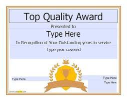 template award certificates officecom formal award certificate