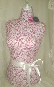Pink French Dress Form jewelry display Paris mannequin torso