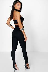 high neck jumpsuit shop boohoo ruby high neck jumpsuit in ivory at modalist