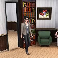 mod the sims sliding bookcase