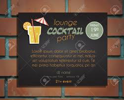 lounge cocktail party poster invitation template with driver