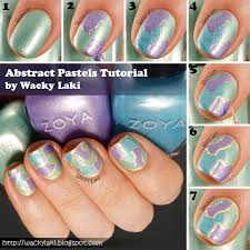 wacky laki tutorial abstract stained glass nail art