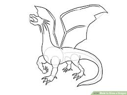 how to draw coloring pages the 4 best ways to draw a dragon wikihow