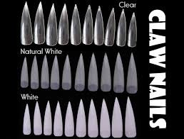 500pc stiletto claw nail tips half cover pointy false nails