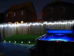 Lights For Backyard by Triyae Com U003d Backyard Lights On Fence Various Design Inspiration