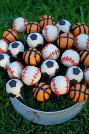 sports themed cake pops parties sports spree
