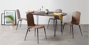 Extendable Dining Table And 4 Chairs Ryland Extending Dining Table And 4 Chairs Set Walnut And Black
