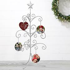 ornament stand silver tree christmas ornament stand