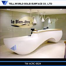 Buy Reception Desk by Factory Price Directly Led Light Hotel Reception Counter With High