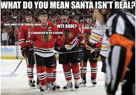 Chicago Blackhawks Memes - this is what really goes on when the players all crowd the refs