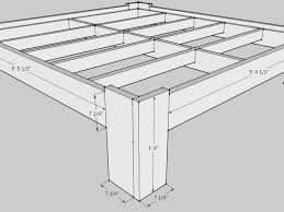 How To Make A Queen Size Bed Frame King Size Diy Bed Frame Plans Measurement Of Queen Size