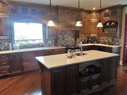 quartz cuisine ilot bois cuisine deco cuisine blanc et bois cuisine