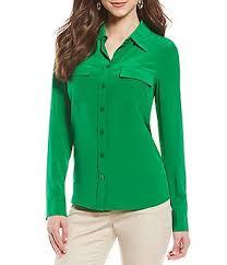 green womens blouse antonio melani green s casual dressy tops blouses dillards