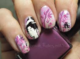 diy flower nails easy pink cherry blossom floral nail art nail