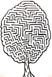 tree maze drawing by andrew padula